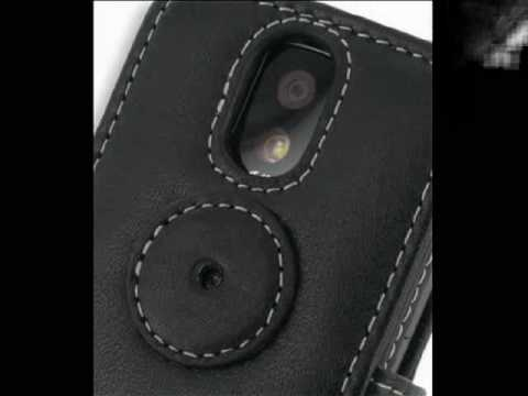 Leather Case for T-Mobile MDA Vario IV - Book Type (Black)