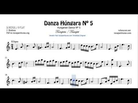 Hungarian Dance Nº5 Sheet Music for Trumpet and Flugelhorn on b flat
