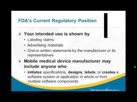 FDA Regulation of Mobile Health Devices