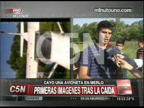 C5N - SOCIEDAD: CAYO UNA AVIONETA EN MERLO