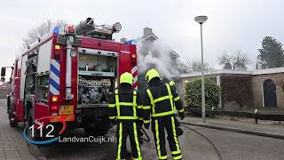 Garage veroest door brand in Heijen