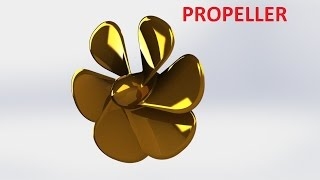 SolidWorks tutorial How To Make Propeller