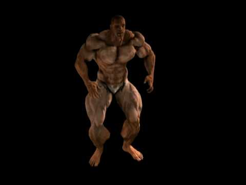 3d muscle growth animation - 3 part 10
