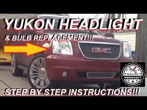 2007-2014 GMC Yukon Headlight Replacement & Bulb Removal How-To Change Headlight Bulb Assembly XL