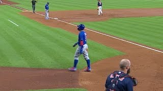 CHC@HOU: Baez takes interesting trip around the bases