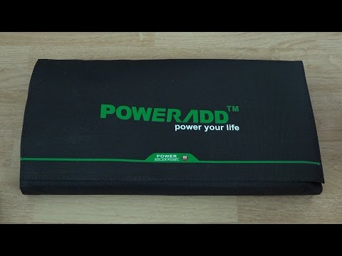 Poweradd 40W Solar Panel Unboxing and First Look