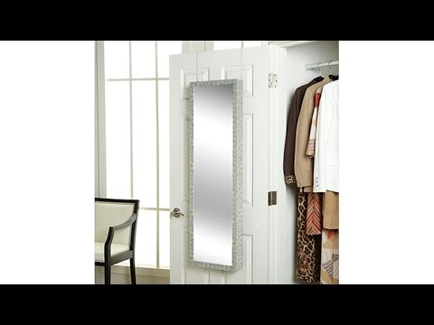OvertheDoor Jewelry Armoire with FullLength Mirror