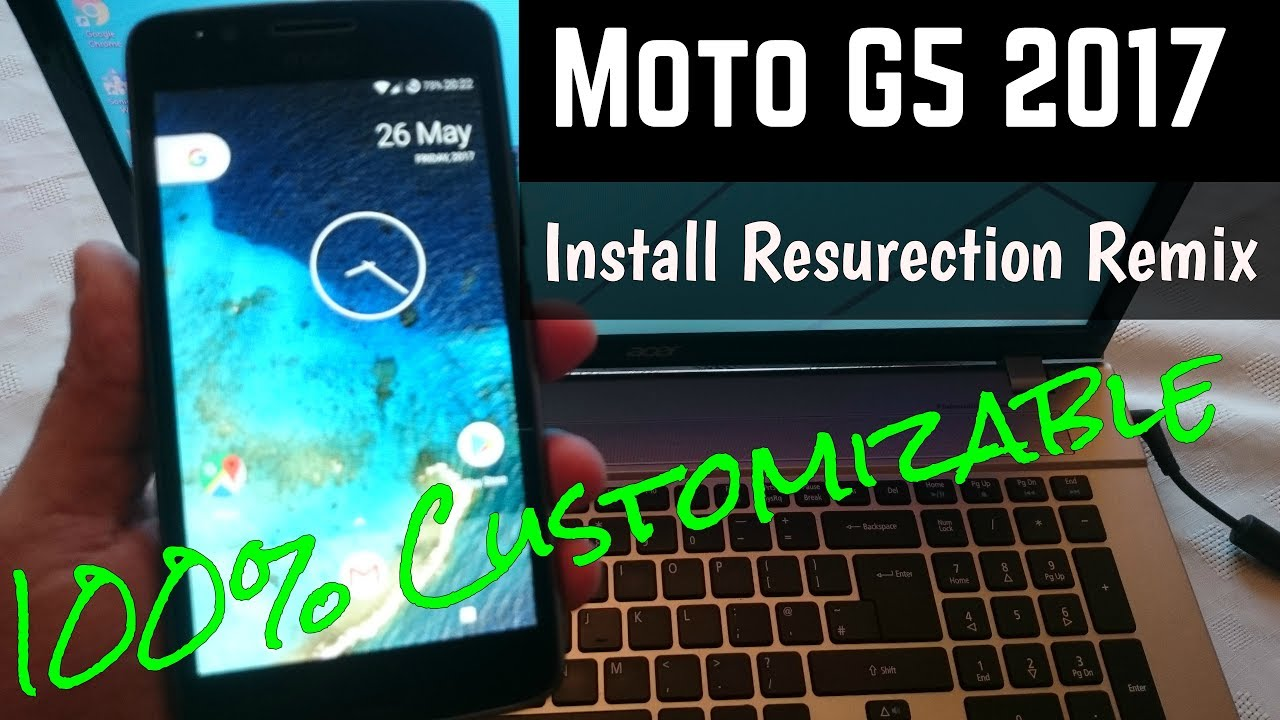 Moto G5 2017   iNstall Resurrection Remix Rom  With Android O Pixel  Launcher by Android Doctor