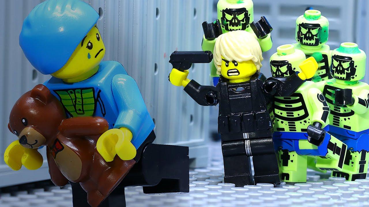Lego Zombie Apocalypse Part 2: Last Person To Escape Zombie Attack (Lego Animation)