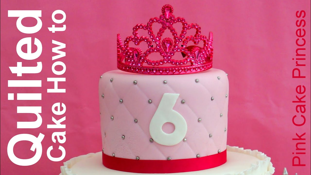 How To Make A Quilted Cake With A Ruler By Pink Cake Princess Youtube
