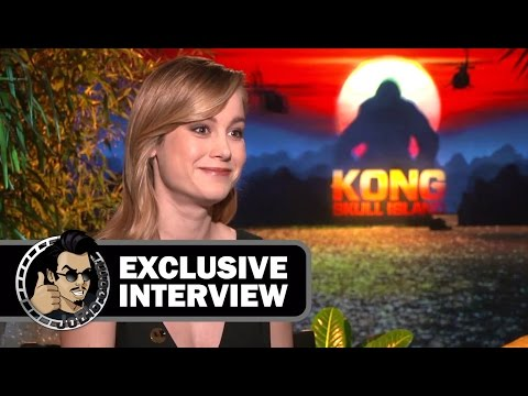 Brie Larson Exclusive KONG: SKULL ISLAND Interview (JoBlo.com) 2017