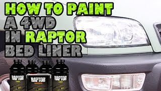 How to paint a 4WD in Raptor Bed Liner