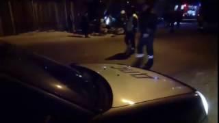 В первый час нового года в Брянске водитель ВАЗа врезался в столб