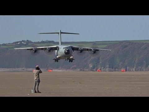 Spectacular beach landing