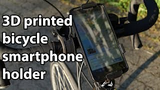 Homemade 3D printed bicycle ahead stem smartphone holder