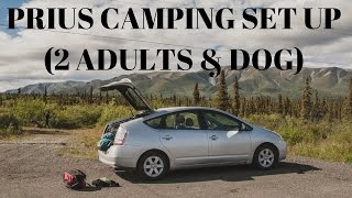Prius Camping Set Up (2 Adults and a dog)