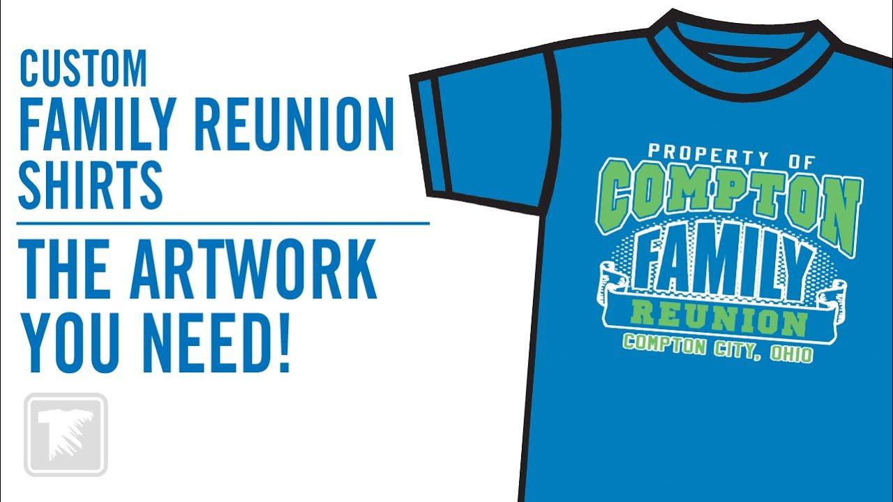 Print Custom Family Reunion T Shirts Youtube