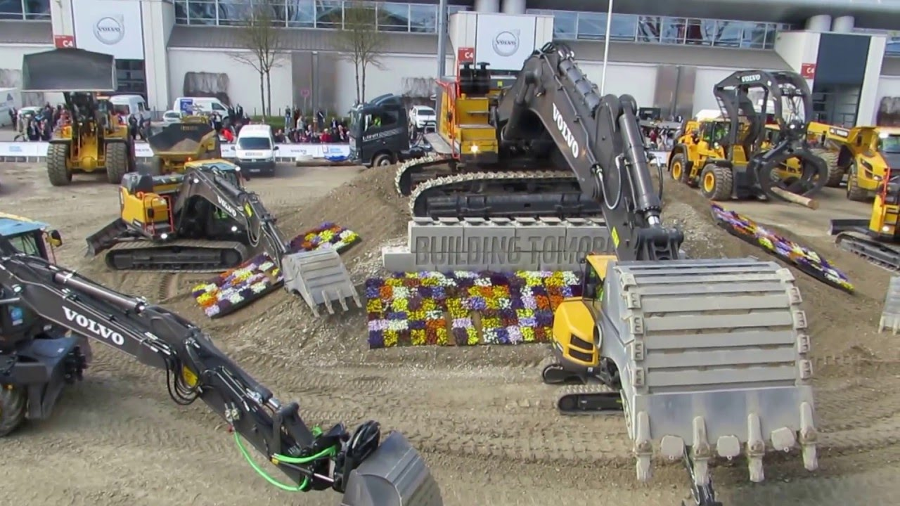 volvo construction equipment display bauma 2016 part 3 messe m nchen germany youtube. Black Bedroom Furniture Sets. Home Design Ideas