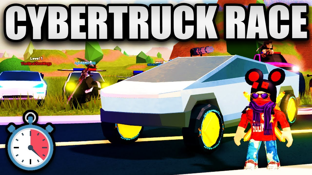 CYBERTRUCK VS EVERY VEHICLE... (Biggest Race Ever) | Roblox Jailbreak thumbnail