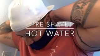 Shaving with BeardBlanket | Ingrown hair razor bump and razor burn treatment| No shaving cream
