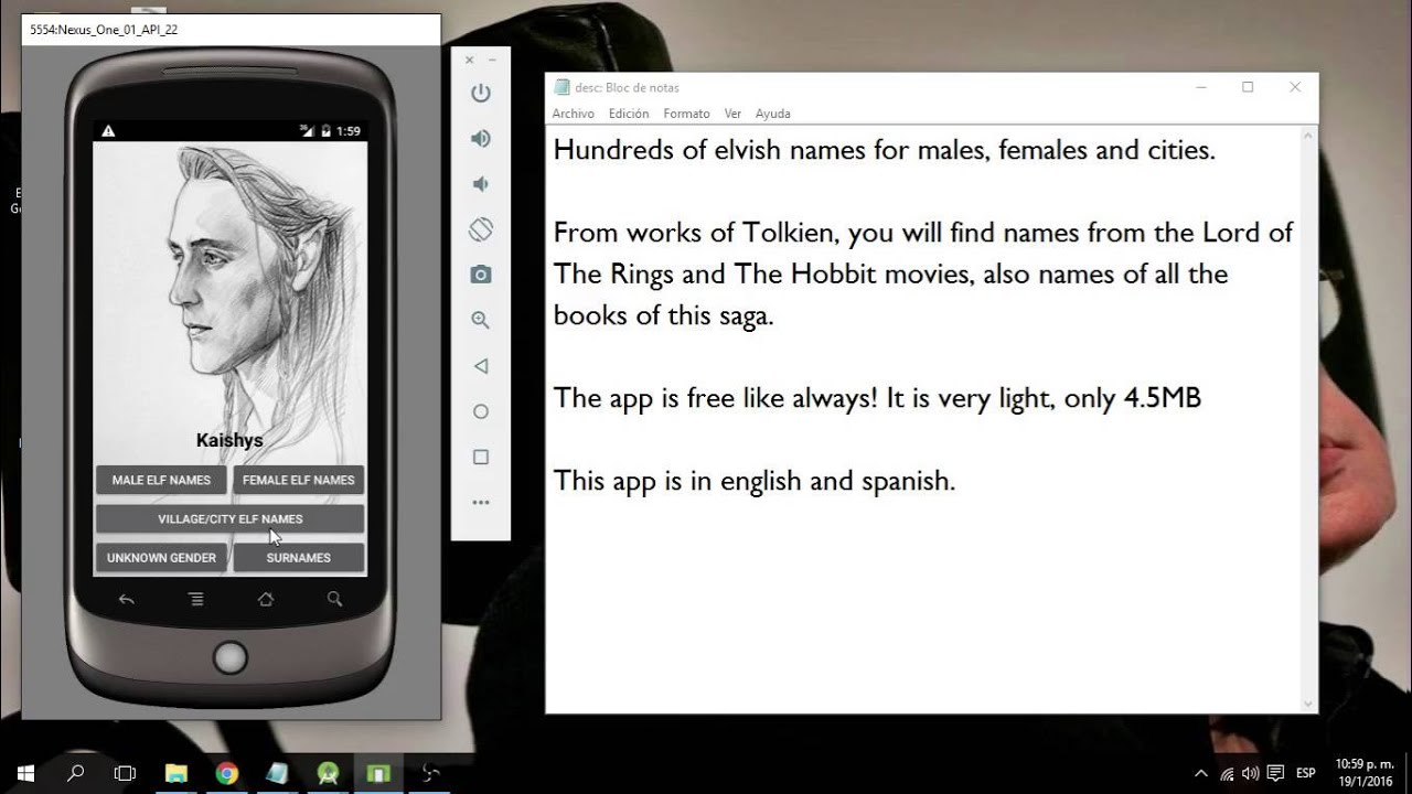 Android App: Elf Names Generator