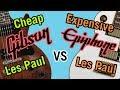 Cheap Gibson Les Paul vs Expensive Epiphone Les Paul Tone Comparison