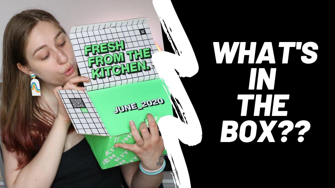 lush kitchen june box + mocha's birthday! - YouTube