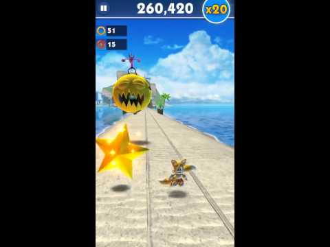 Sonic Dash - 544,590 points with Tails (x10 multiplier)