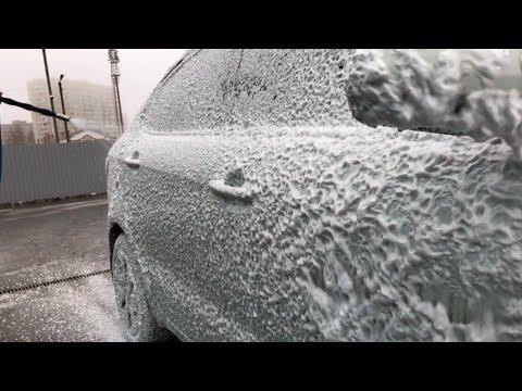 Мойка очень грязной машины за 140 рублей с воском и осмотической водой Washing a dirty car for $2