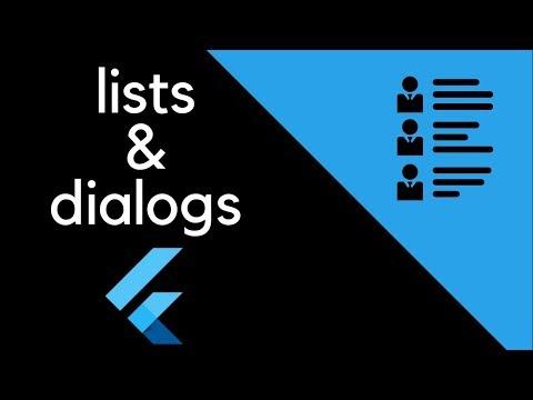 Flutter - Lists & Dialogs