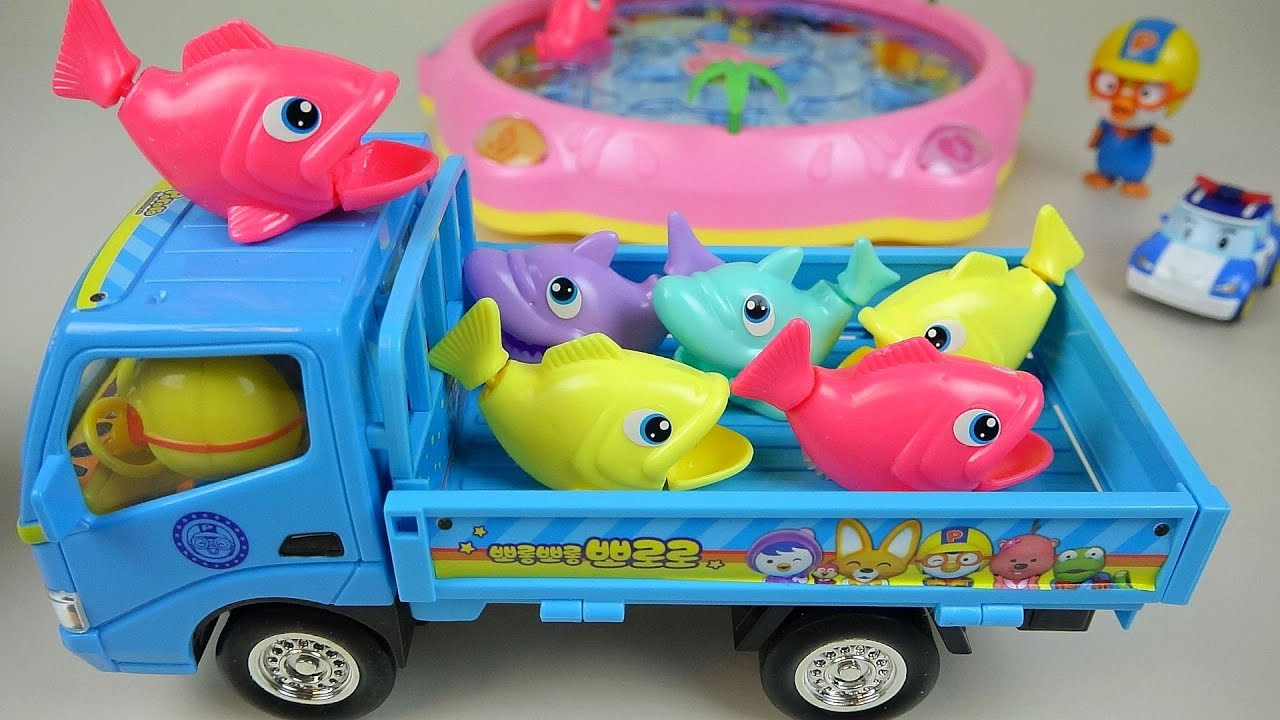 Pororo Poli car Fishing toys ToyPudding 뽀로로 낚시놀이