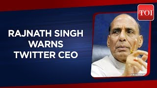Home Minister Rajnath Singh warns of strict action against Twitter CEO over poster controversy