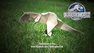 Let's fold origami t-rex, indominus rex and spinosaurus inspired from 'Jurassic World'