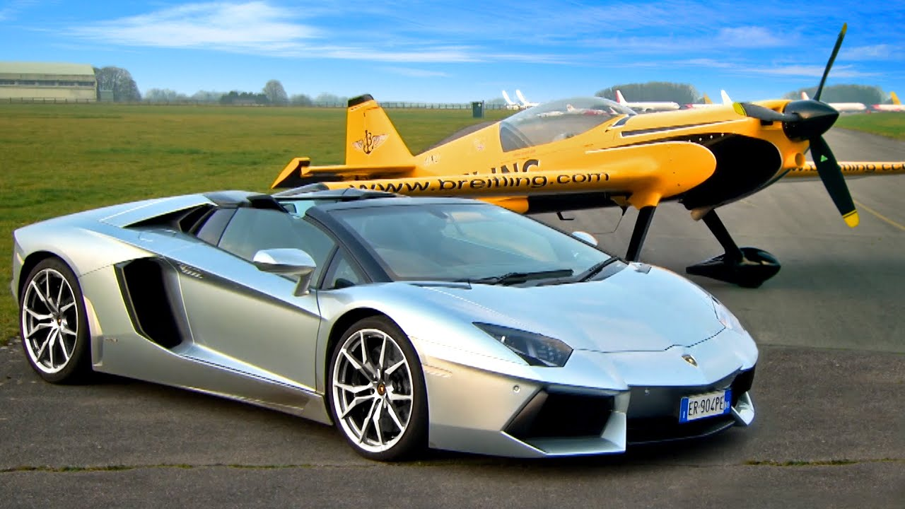 Lamborghini Aventador VS Aereo la sfida | Fifth Gear