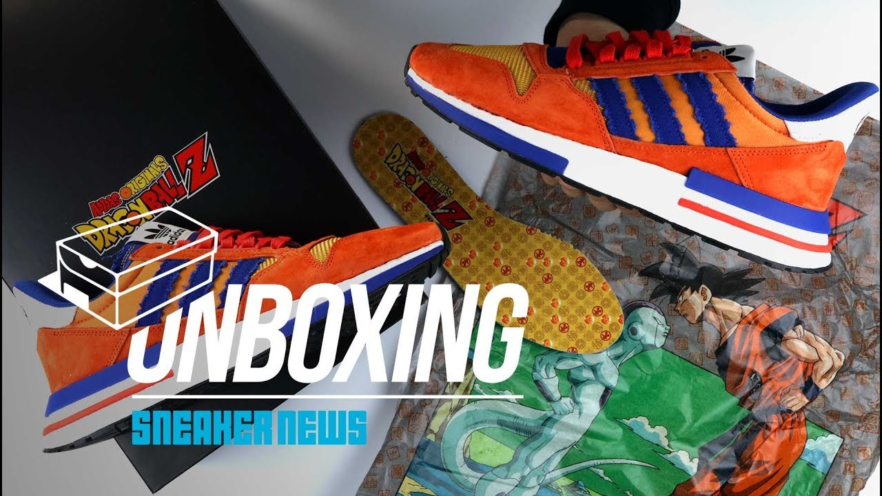 4633e3f270 adidas Dragon Ball Z Goku ZX 500 RM Unboxing + Review - YouTube