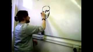 How to draw the Mona Lisa on a whiteboard