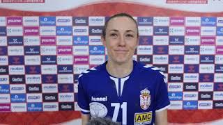 Kristina Lišćević Nakon Pobede Srbije nad Slovenijom   SPORT KLUB Rukomet