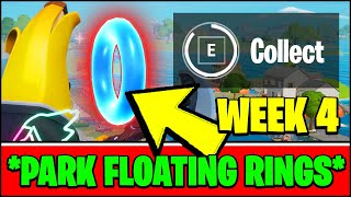 COLLECT FLOATING RINGS AT PLEASANT PARK (ALL LOCATIONS) - Fortnite Season 3 Week 4 Challenges