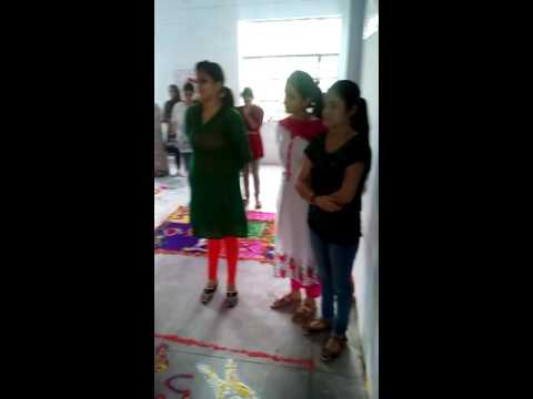 Rangoli competition at jcp on occasion of world physiotherapy week celebrations