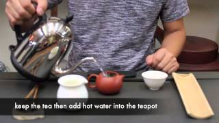 4 用茶壺泡茶 Brewing tea with a clay Kong Fu Teapot.m4v 喜堂ChaTei茶葉知識taiwan tea