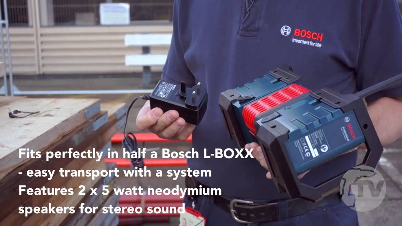 bosch gml soundboxx jobsite radio from toolstop youtube. Black Bedroom Furniture Sets. Home Design Ideas