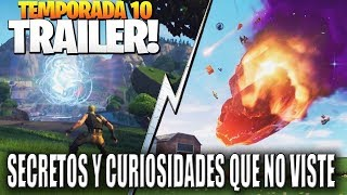 FORTNITE SEASON TRAILER X CURIOSITIES DETAILS AND SECRETS YOU DO NOT SEE