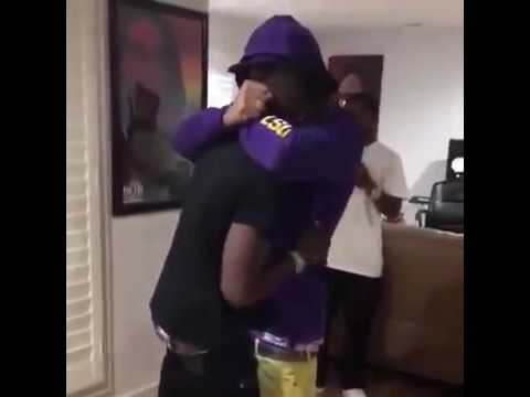 Boosie Starts Crying When he Walks in to a Surprise Party Thrown by Webbie!