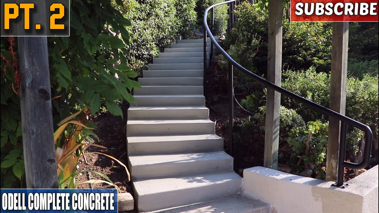 Perfect Curved Concrete Staircase Pour (Part 2)