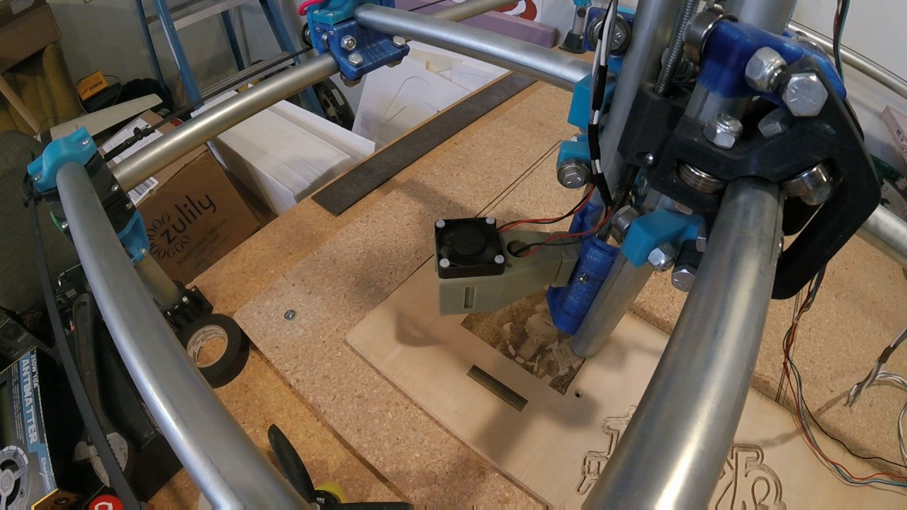 MPCNC - Laser first raster test