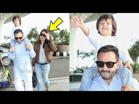 Omg ! Kareena Kapoor Embarased  and Shocked watching Taimur interacting with Media ! Saif Ali Khan Mp3