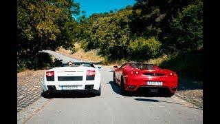 Lamborghini Vs Ferrari Race in Barcelona