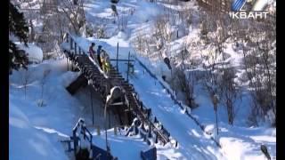Городские соревнования по прыжкам на лыжах с трамплинов