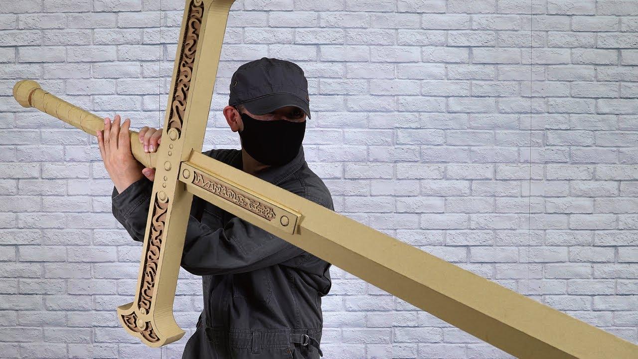 【ダンボール工作】ミホークの黒刀の作り方【ONE PIECE】Mihawk -Black sword, night-Cardboard DIY