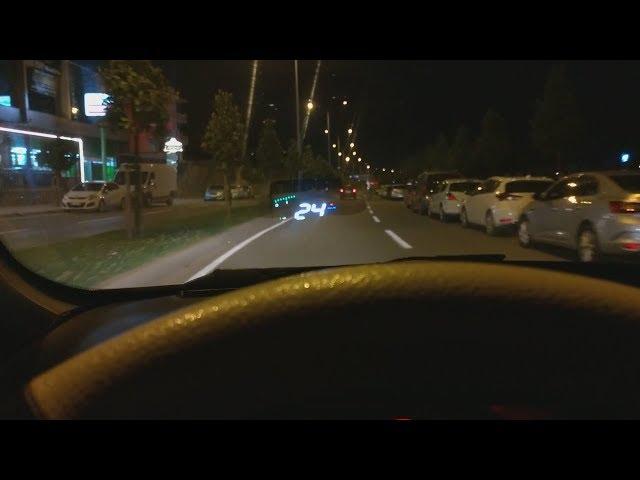 Araba Ön Camına Araba Hızını Yansıtma - Head Up Display